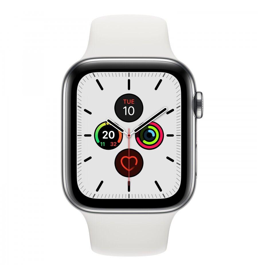 Apple Watch Series 5 älykello Ruostumaton teräs OLED Solu GPS (satelliitti)