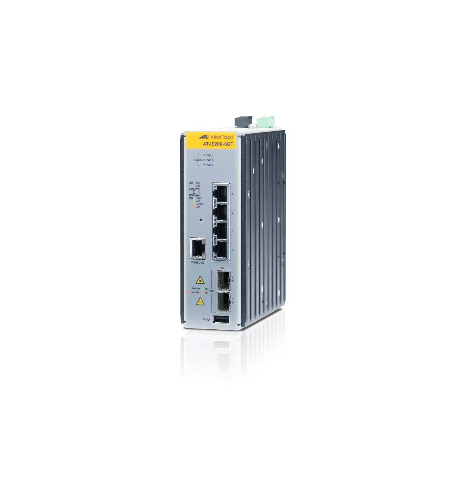 Allied Telesis AT-IE200-6GT Managed network switch L2 Gigabit Ethernet (10/100/1000) Musta