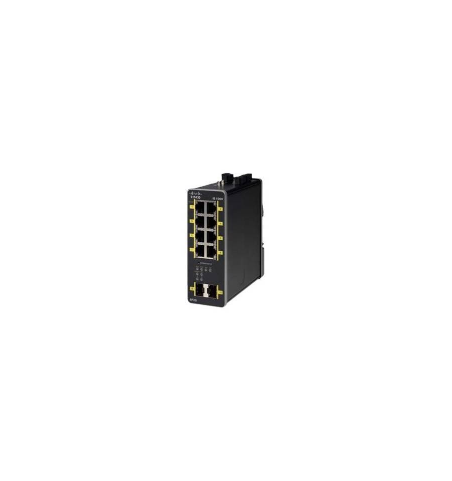 Cisco Systems IE-1000-8P2S-LM Managed network switch Gigabit Ethernet (10/100/1000) Power over -tuki Musta verkkokytkin