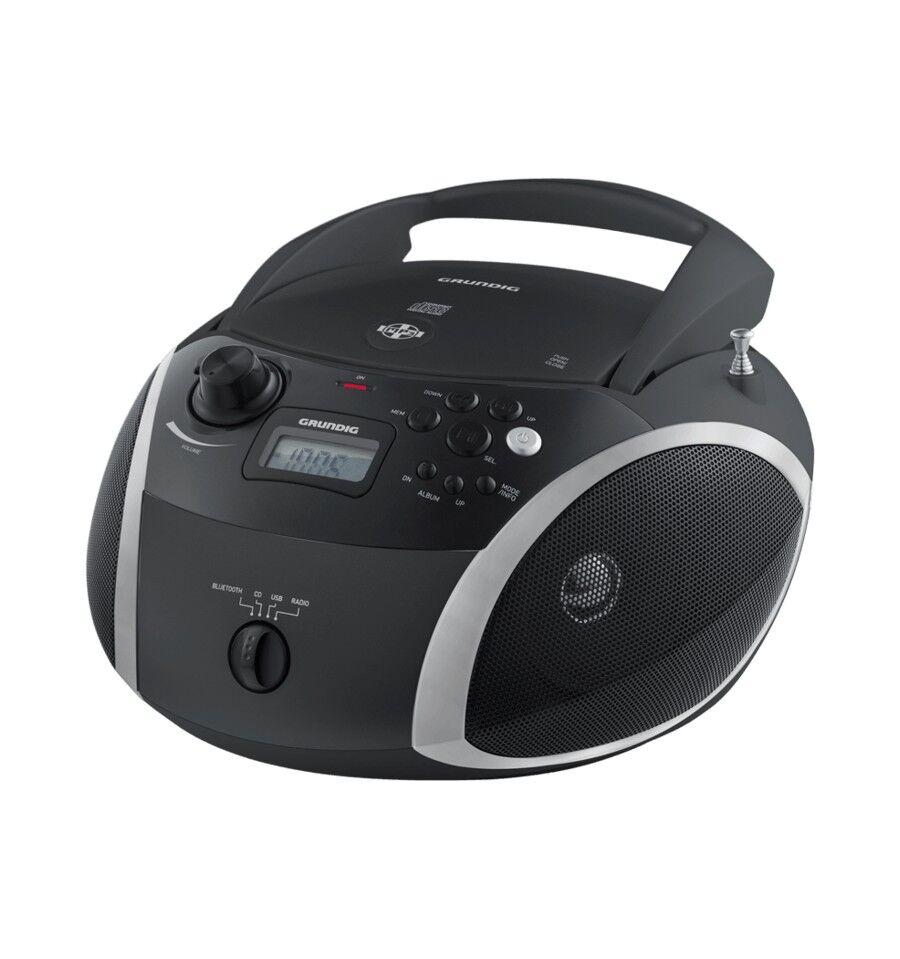 Grundig GRB 3000 BT Digitaalinen 3 W Musta, Hopea