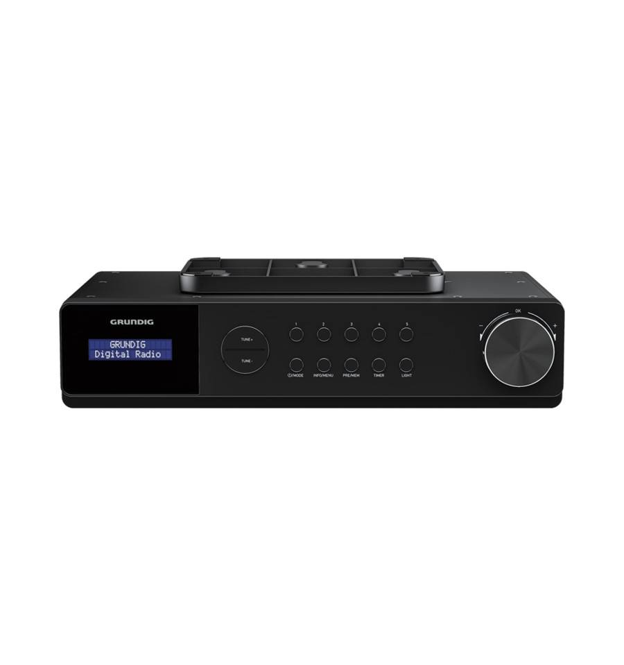 Grundig DKR 1000 BT radio Worksite Digitaalinen Musta