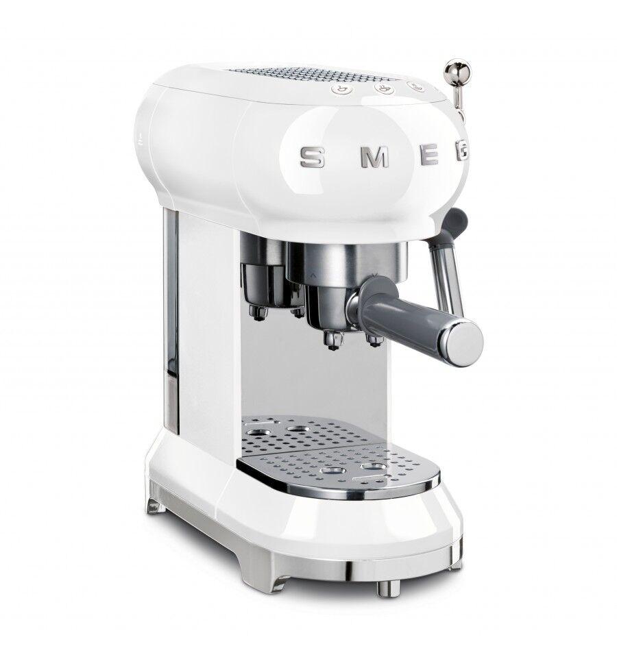 SMEG ECF01WHEU kahvinkeitin Espressokone 1 L Puoliautomaattinen