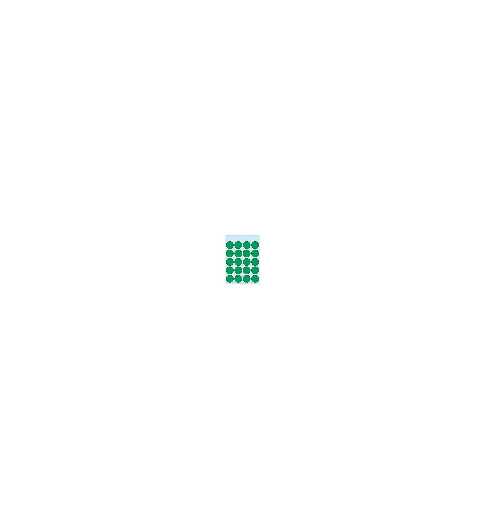 HERMA Multi-purpose labels ø 19mm dark green 100 pcs. liimaetiketti Vihreä kpl