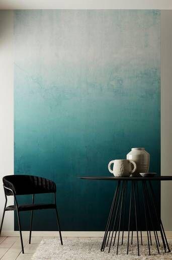 Wallpaper by ellos Macy taustatapetti, petrolinsininen  - Petrolinsininen