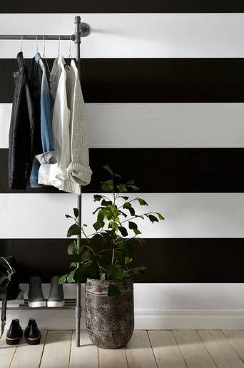 Wallpaper by ellos Maja tapetti  - Musta/valkoinen