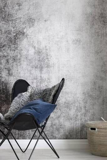 Wallpaper by ellos Verna taustatapetti  - Harmaa