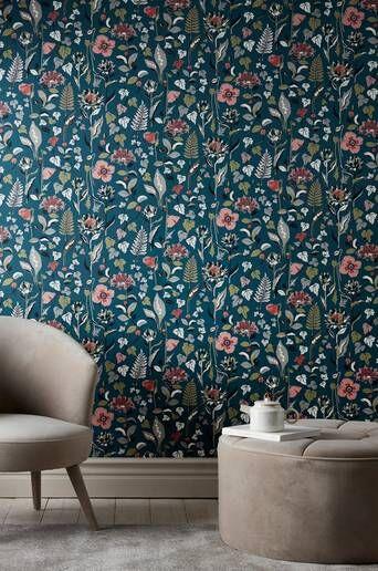 Wallpaper by ellos Svea tapetti  - Sininen