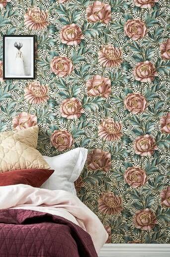 Wallpaper by ellos Penelope tapetti  - Roosa