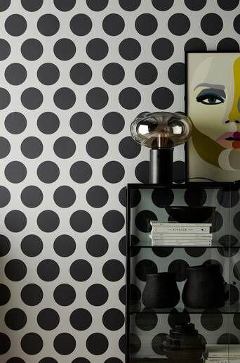 Wallpaper by ellos Stacey tapetti  - Vaaleanharmaa/tummanharmaa