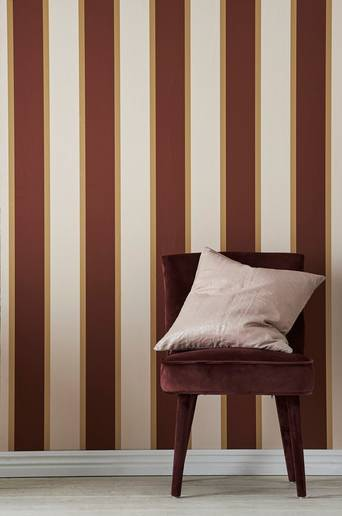Wallpaper by ellos Travis tapetti  - Nude-roosa/ruosteenpunainen/kullanvärinen