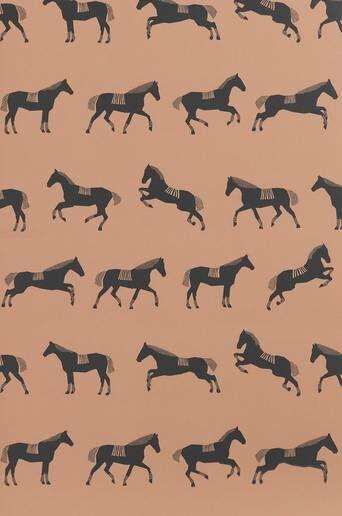Ferm Living Tapetti Horse  - Musta