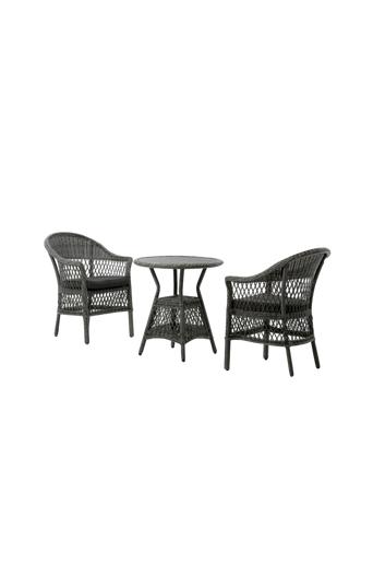 Martinsen Café-setti Toledo  - Harmaa/musta