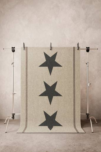 Jotex THREE STARS SISÄ/ULKO bukleematto 160x230 cm  - Beige/harmaa