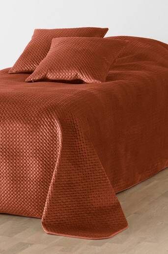 Jotex VIKTORIA päiväpeite kapeaan sänkyyn, 180x250 cm  - Ruosteenruskea