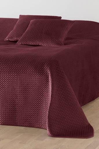 Jotex VIKTORIA päiväpeite parisänkyyn, 250x250 cm  - Tumma roosa