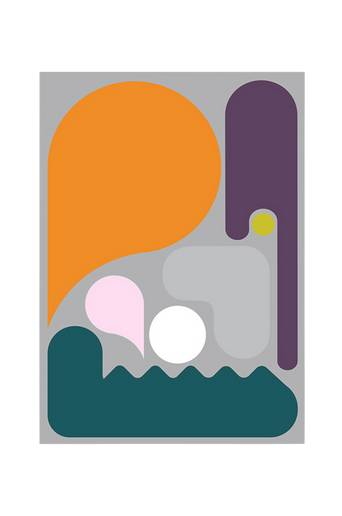 Kortkartellet Juliste Abstraction 4  - Monivärinen