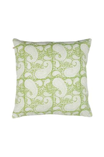 Chamois Tyynynpäällinen Big Paisley  - Light green