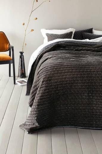 Jotex VICKAN päiväpeite kapeaan sänkyyn, 180x260 cm  - Harmaa