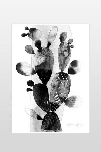 Ellos Kaktus juliste 50x70 cm  - Musta