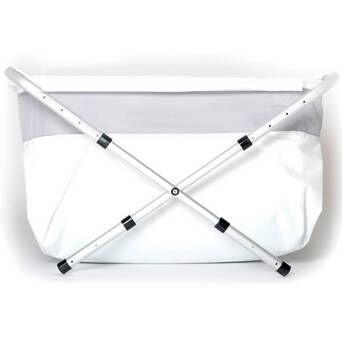 BiBaBad Flexi-kylpyamme, 60-80 cm, hopeanvärinen