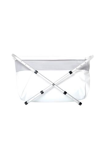 BiBaBad Flexi-kylpyamme, 80-100 cm, hopeanvärinen