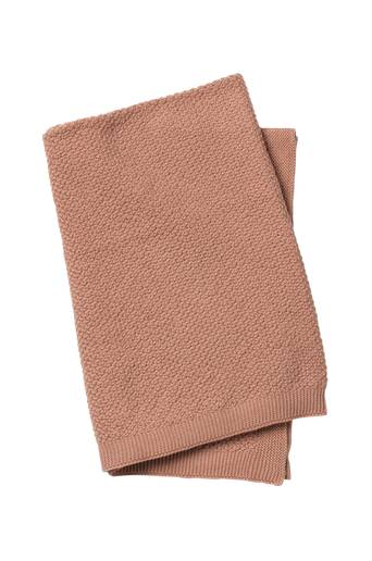 Elodie Details Moss Knitted Blanket Faded Rose