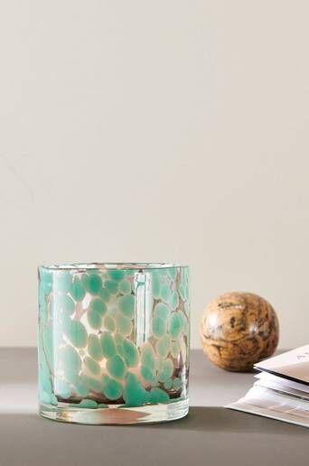 Ellos Kynttilälyhty/ruukku Ruby Medium, korkeus 12 cm  - Light green