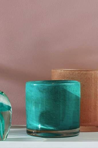 Ellos Kynttilälyhty/ruukku Ruby Medium, korkeus 12 cm  - Turquoise Green
