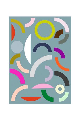 Kortkartellet Juliste Fragments  - Sininen