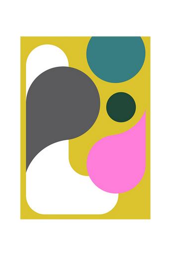 Kortkartellet Juliste Abstraction 2  - Monivärinen