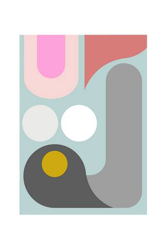 Kortkartellet Juliste Abstraction 3  - Monivärinen