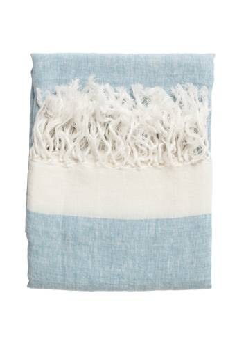 Chamois Torkkupeitto pellavaa - Chambray  - Light blue