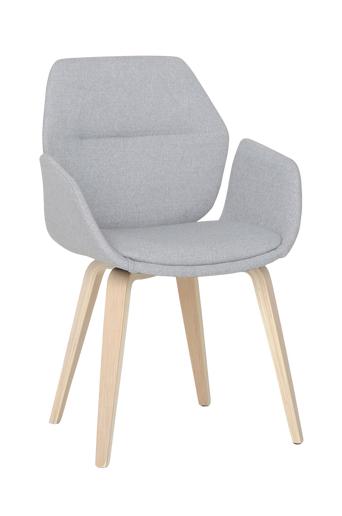 Nordic Furniture Group Ruokapöydän tuolit Felix, 2/pakk.  - Sileä harmaa kangas