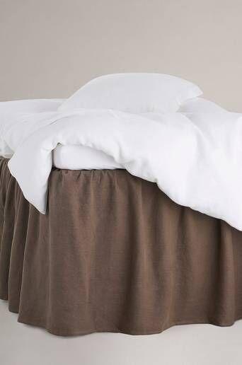 Staycation Helmalakana Calm pellava-puuvillasekoitetta, korkeus 60 cm  - Tummanruskea