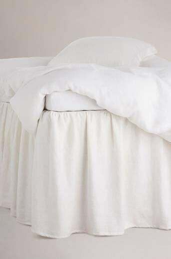 Staycation Helmalakana Calm pellava-puuvillasekoitetta, korkeus 60 cm  - Valkoinen