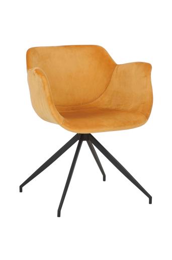 Nordic Furniture Group Ruokapöydän tuoli Erik, 2/pakk.  - Keltainen/musta