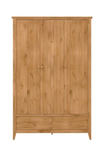 NORDFORM Garderob Hestra, 3-dörr  - Stain-waxed