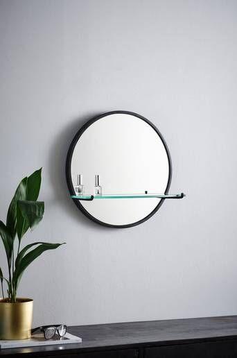 Jotex Hyllyllinen peili SVEA - pieni  - Musta