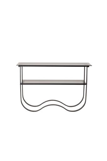 Furniture Fashion Sivupöytä Wavy  - Musta