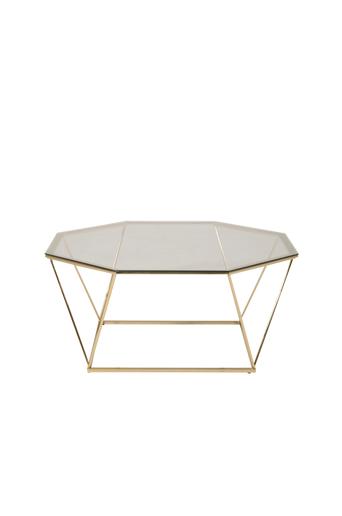 Furniture Fashion Sohvapöytä Österlen, halkaisija 100 cm  - Lasi