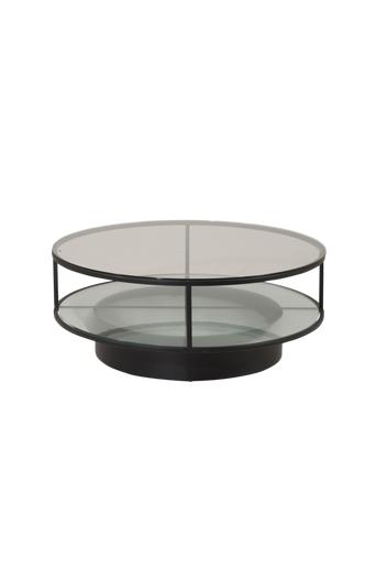 Furniture Fashion Sohvapöytä Falsterbo, halkaisija 100 cm  - Lasi