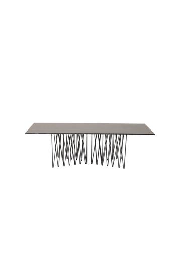 Furniture Fashion Sohvapöytä Stone, 60 x 140 cm  - Harmaa