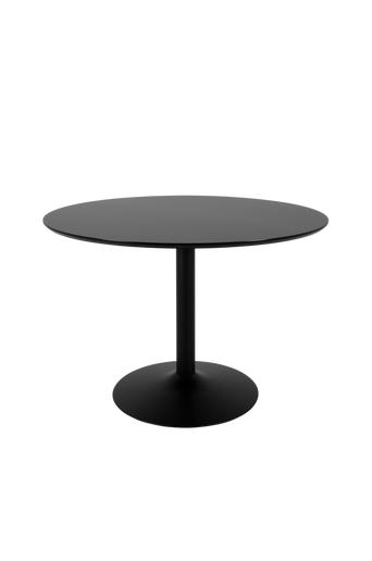 Tenzo Ruokapöytä Taco Ø 110 HPL  - Musta