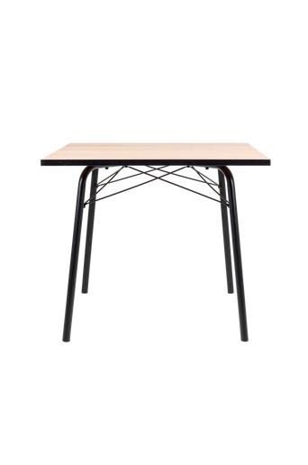 Tenzo Ruokapöytä Flow 90*90  - Tammi/musta