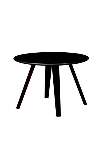 Tenzo Sohvapöytä LOLA, halkaisija 60 cm  - Musta/musta