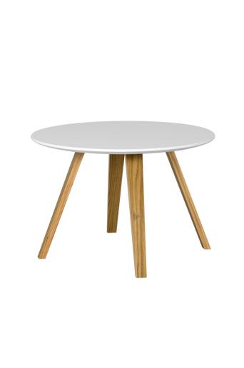 Tenzo Sohvapöytä LOLA, halkaisija 60 cm  - Valkoinen/tammi