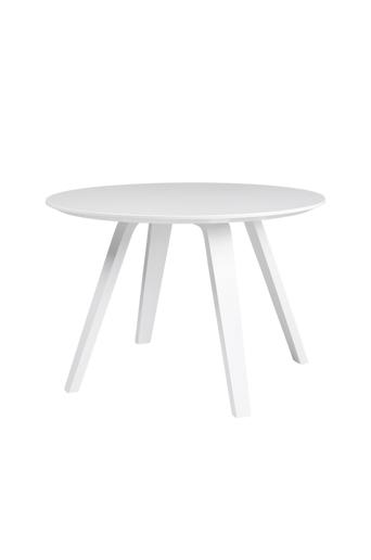 Tenzo Sohvapöytä LOLA, halkaisija 60 cm  - Valkoinen/valkoinen