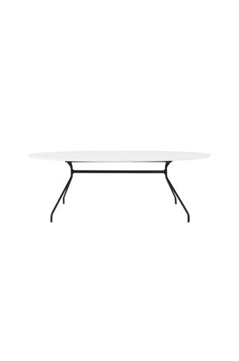 Tenzo Ruokapöytä EGO 240*120 valkoinen HPL, musta  - Valkoinen hpl/musta