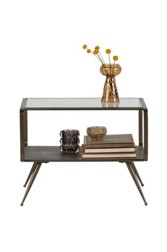 BePureHome Pikkupöytä Fancy, lasi/antiikkimessinki  - Antiikkimessinginvärinen