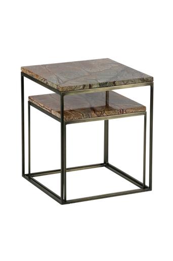 BePureHome Pikkupöydät Mellow, 2 kappaleen setti  - Antiikkimessinginvärinen